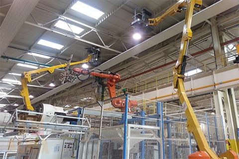 Wzmacnianie konstrukcji nośnej dachu hali produkcyjnej (ok. 8000 m2)  Etap 2